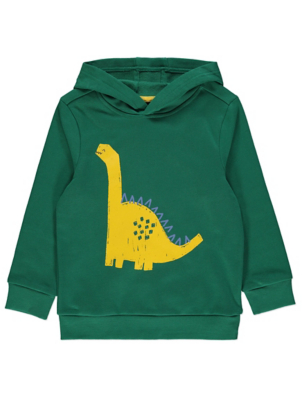 Green Dinosaur Graphic Hoodie