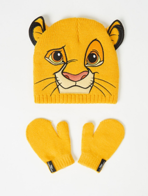 Disney The Lion King Simba Beanie Hat and Mittens Set