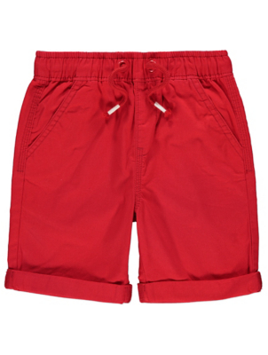 Red Drawstring Shorts