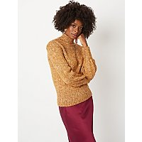 Mustard Yellow Fleck Weave Jumper by Asda