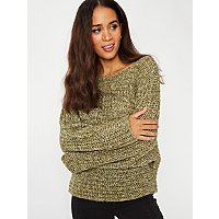 Green Tonal Knit Jumper by Asda