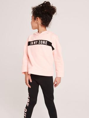 Coral In My Zone Slogan Sports Sweatshirt
