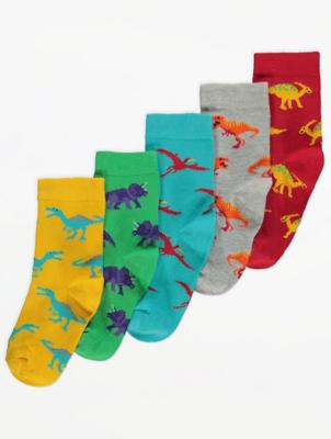 Dinosaur Ankle Socks 5 Pack