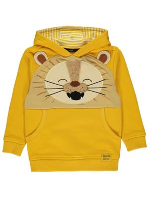 Yellow Appliqué Lion Hoodie