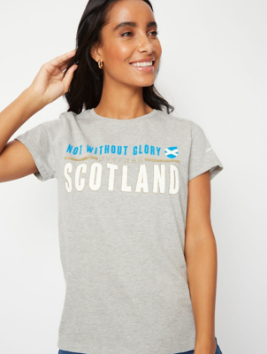 Grey Scotland Glitter T-Shirt