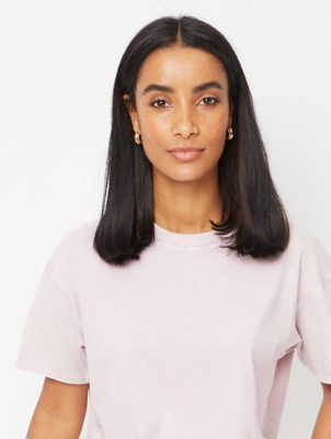 Lilac Acid Wash Boxy T-Shirt