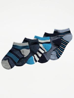 Striped Trainer Liner Socks 5 Pack