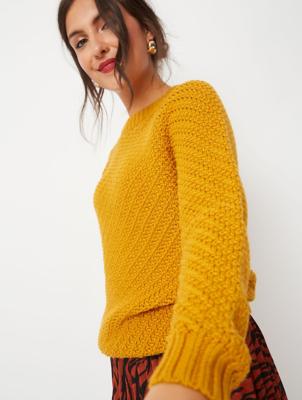 Ochre Stitch Knit Jumper