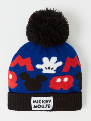 Disney Mickey Mouse Blue Bobble Hat