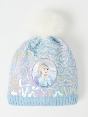 Disney Frozen 2 Elsa Sequin Bobble Hat