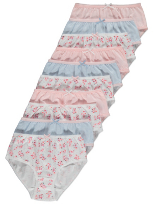 Assorted Floral Briefs 10 Pack