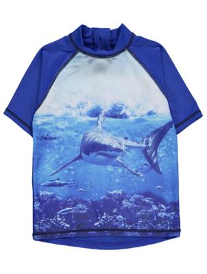 Blue Shark Raglan Rash Vest