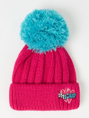 Hearts by Tiana Pink Pom Pom Bobble Hat