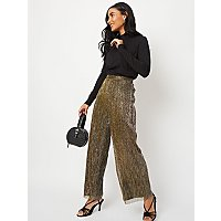 Gold Palazzo Trousers by Asda
