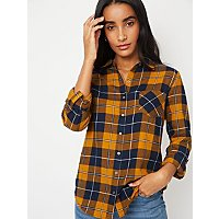 Mustard Check Shirt by Asda