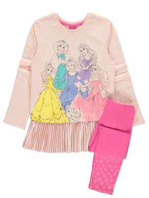 Disney Princess Sweatshirt and Leggings Outfit