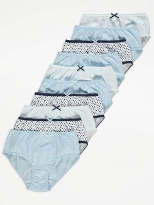 Blue Star Print Briefs 10 Pack