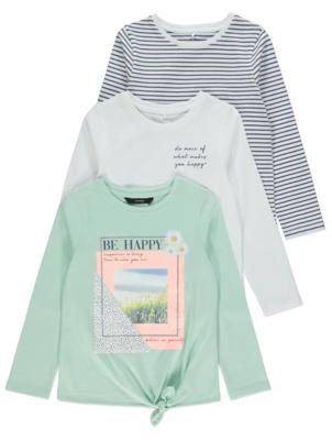 Pastel Long Sleeve Tops 3 Pack