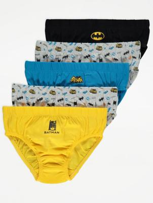 DC Comics Batman Blue Briefs 5 Pack