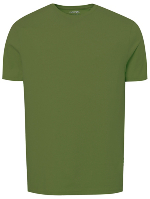 Green Crew Neck Short Sleeve T-Shirt
