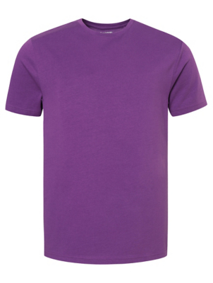 Purple Crew Neck Short Sleeve T-Shirt