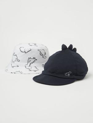 Dinosaur Cap and Bucket Hat 2 Pack