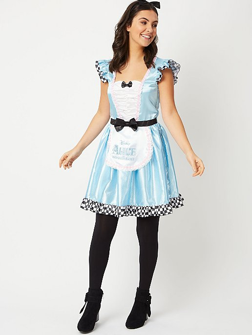 ALICE in  WONDERLAND Fancy Dress Costume Adult Ladies