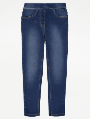 Navy Blue Mid Wash Jeggings