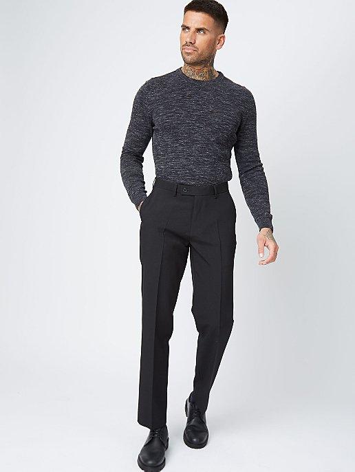 Black Regular Fit Trousers 2 Pack