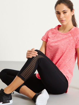 Black Ultimate Cropped Sports Leggings