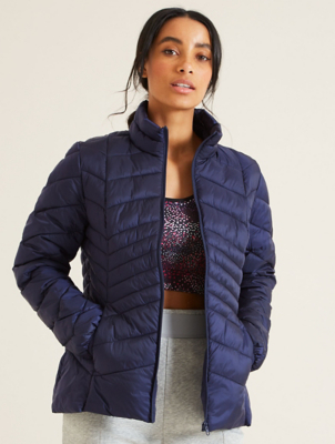 Pearl Navy Padded Packable Coat
