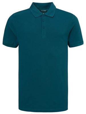 Dark Blue Short Sleeve Polo Shirt