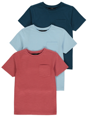 Pocket Detail T-Shirts 3 Pack