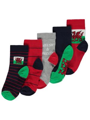 Welsh Socks 5 Pack