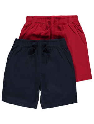 Jersey Navy Shorts 2 Pack