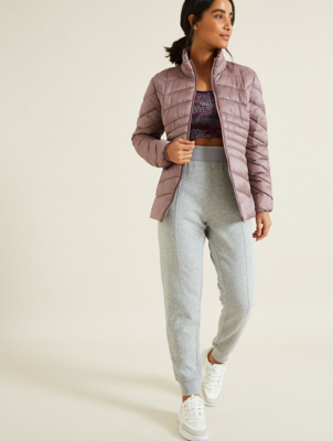Pearl Lilac Padded Packable Coat