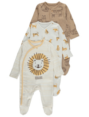 Big Cat Sleepsuits 3 Pack