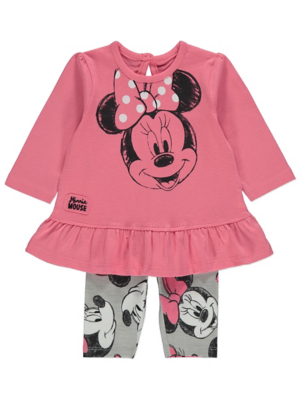 Disney Minnie Mouse Pink Top and Leggings Outfit