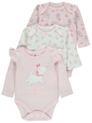 Disney Aristocats Marie Pink Bodysuits 3 Pack