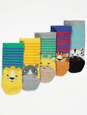 Animal Print Socks 5 Pack