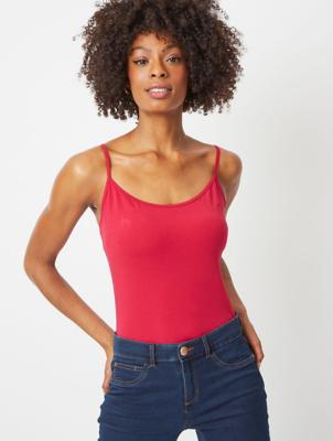 Cherry Red Cami Vest