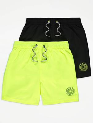 Neon Swim Shorts 2 Pack