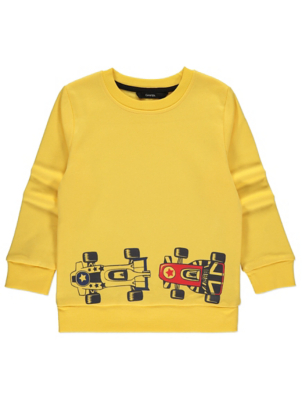 Yellow Race Car Sweatshirt