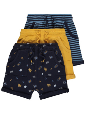 Assorted Jersey Shorts 3 Pack