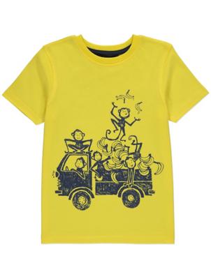 Yellow Monkey Graphic Short Sleeve T-Shirt