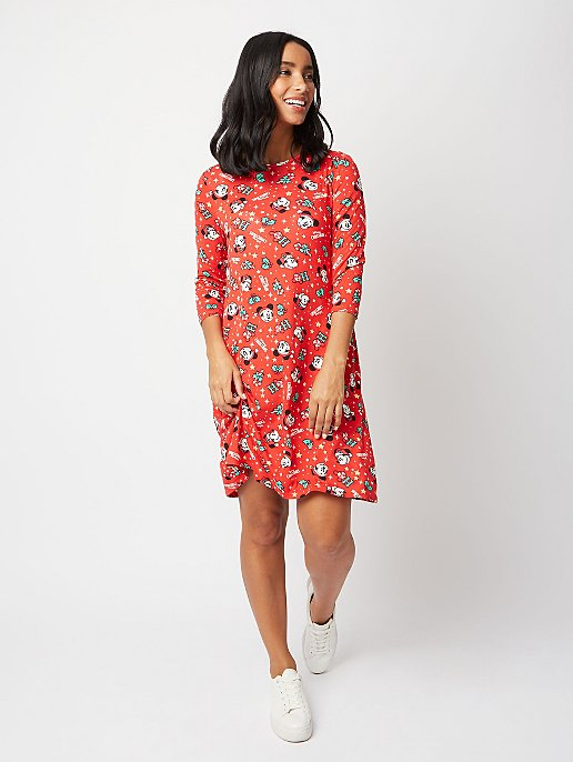 Minnie Mouse Christmas Dress.Disney Mickey And Minnie Mouse Christmas Dress