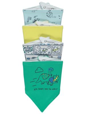 Dinosaur Superhero Bibs 4 Pack