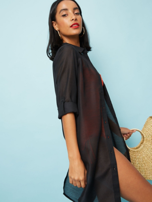 Black Shirt Cover Up