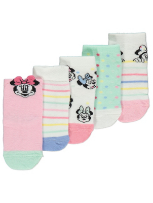 Disney Minnie Mouse Socks 5 Pack