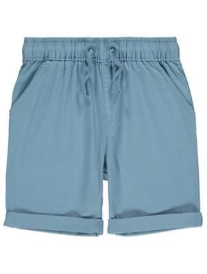 Pale Blue Woven Shorts